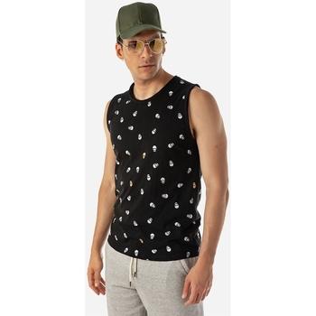 Υφασμάτινα Άνδρας Αμάνικα / T-shirts χωρίς μανίκια Brokers ΑΝΔΡΙΚΟ T-SHIRT Μαύρο