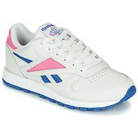Παπούτσια Χαμηλά Sneakers Reebok Classic CL LEATHER MARK Άσπρο / Ροζ