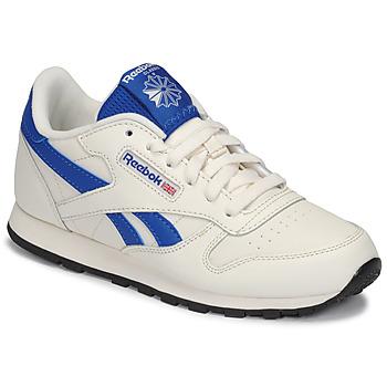 Παπούτσια Παιδί Χαμηλά Sneakers Reebok Classic CLASSIC LEATHER Άσπρο / Μπλέ