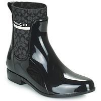Παπούτσια Γυναίκα Μπότες βροχής Coach RIVINGTON RAIN BOOTIE Black