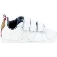 Παπούτσια Παιδί Χαμηλά Sneakers Le Coq Sportif Courtclassic BB Blanc Marron Άσπρο