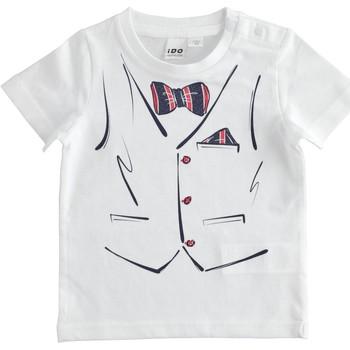 Υφασμάτινα Αγόρι T-shirt με κοντά μανίκια Ido 4J692 Bianco