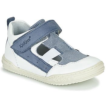 Παπούτσια Αγόρι Σανδάλια / Πέδιλα Kickers JASON Άσπρο / Μπλέ