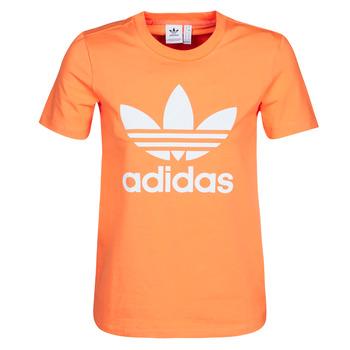 Υφασμάτινα Γυναίκα Φούτερ adidas Originals TREFOIL TEE Orange