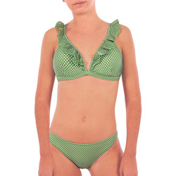 Υφασμάτινα Γυναίκα μαγιό 2 κομμάτια Back Bloom BB210 VERT Green