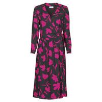 Υφασμάτινα Γυναίκα Μακριά Φορέματα Betty London NOLIE Black / Ροζ