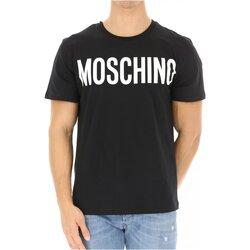 Υφασμάτινα Άνδρας T-shirt με κοντά μανίκια Love Moschino ZPA0705 Black