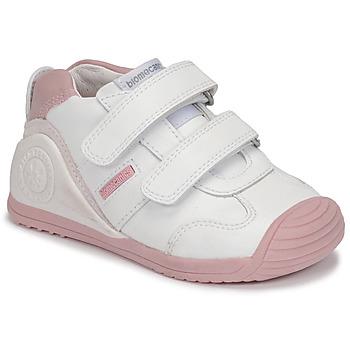 Παπούτσια Κορίτσι Χαμηλά Sneakers Biomecanics BIOGATEO SPORT Άσπρο / Ροζ