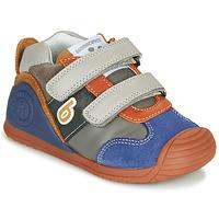 Παπούτσια Αγόρι Χαμηλά Sneakers Biomecanics ZAPATO SPORT VELCRO Grey / Μπλέ / Orange