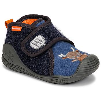 Παπούτσια Παιδί Παντόφλες Biomecanics ZAPATILLA TWIN Grey / Μπλέ