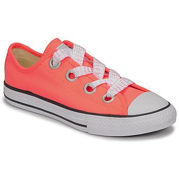 Παπούτσια Κορίτσι Χαμηλά Sneakers Converse CTAS BIG EYELET OX LAVA GLOW/WHITE/BLACK Ροζ