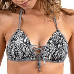 Υφασμάτινα Γυναίκα Μαγιό μόνο το πάνω ή κάτω μέρος LPB Woman 005 / HAUT SNAKE GRIS Grey
