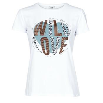 Υφασμάτινα Γυναίκα T-shirt με κοντά μανίκια Liu Jo WF0098-J5003 Άσπρο