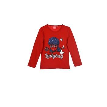 Υφασμάτινα Κορίτσι Μπλουζάκια με μακριά μανίκια TEAM HEROES MIRACULOUS LADYBUG Red