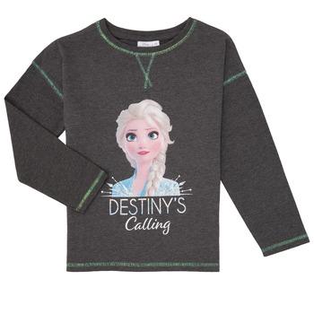 Υφασμάτινα Κορίτσι Μπλουζάκια με μακριά μανίκια TEAM HEROES  FROZEN Grey