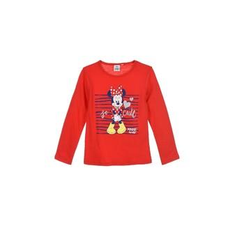 Υφασμάτινα Κορίτσι Μπλουζάκια με μακριά μανίκια TEAM HEROES  MINNIE Red