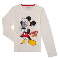 Υφασμάτινα Αγόρι Μπλουζάκια με μακριά μανίκια TEAM HEROES  MICKEY Άσπρο