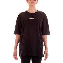 Υφασμάτινα T-shirt με κοντά μανίκια Mxm Fashion 502452 Nero