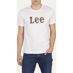 Υφασμάτινα Άνδρας T-shirt με κοντά μανίκια Lee T-shirt  Camo Package Bright White blanc/jaune/bleu