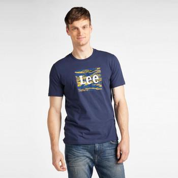 Υφασμάτινα Άνδρας T-shirt με κοντά μανίκια Lee T-shirt  Camo Package Dark Navy bleu marine/jaune/blanc