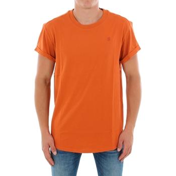 T-shirt με κοντά μανίκια G-Star Raw SHELO R T SS DUSTY ROYAL ORANGE [COMPOSITION_COMPLETE]