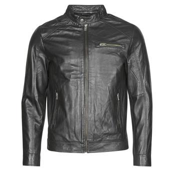 Υφασμάτινα Άνδρας Δερμάτινο μπουφάν Selected SLHC01 Black