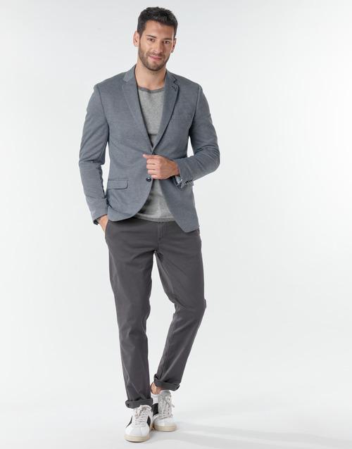 Υφασμάτινα Άνδρας Παντελόνια Chino/Carrot Selected SLHNEW PARIS Grey