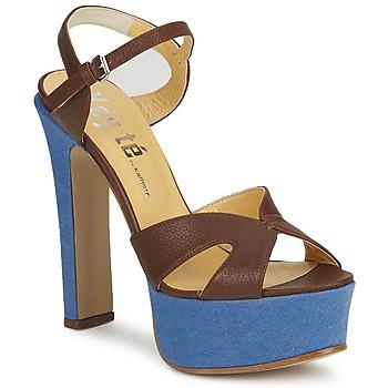 Παπούτσια Γυναίκα Σανδάλια / Πέδιλα Keyté CUBA-LUX-MARRONE-FLY-9 Καφέ