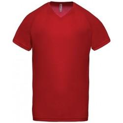 Υφασμάτινα Άνδρας T-shirt με κοντά μανίκια Proact T-Shirt Col V  Sport rouge