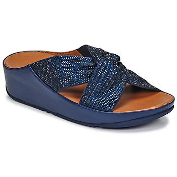 Παπούτσια Γυναίκα Σανδάλια / Πέδιλα FitFlop TWISS CRYSTAL SLIDE Μπλέ