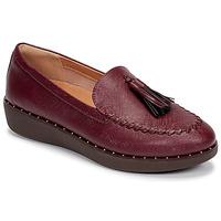 Παπούτσια Γυναίκα Μοκασσίνια FitFlop PETRINA PATENT LOAFERS Red