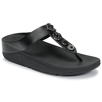 Παπούτσια Γυναίκα Σαγιονάρες FitFlop FINO CIRCLE TOE-THONGS Black