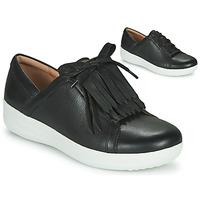 Παπούτσια Γυναίκα Χαμηλά Sneakers FitFlop F-SPORTY II LACE UP FRINGE SNEAKERS - LEATHER Black