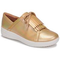 Παπούτσια Γυναίκα Χαμηλά Sneakers FitFlop F-SPORTY II LACE UP FRINGE SNEAKERS-IRIDESCENT LTR Gold