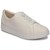 Παπούτσια Γυναίκα Χαμηλά Sneakers FitFlop RALLY DENIM Άσπρο
