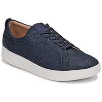 Παπούτσια Γυναίκα Χαμηλά Sneakers FitFlop RALLY DENIM Μπλέ