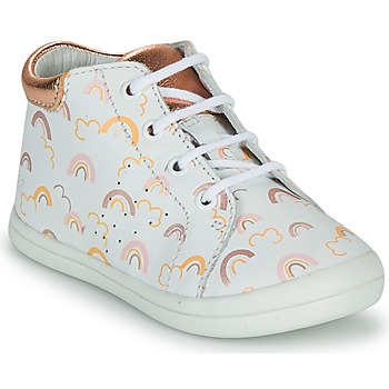 Παπούτσια Κορίτσι Ψηλά Sneakers GBB NAHIA Άσπρο / Ροζ