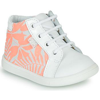 Παπούτσια Κορίτσι Ψηλά Sneakers GBB FAMIA Άσπρο / Ροζ