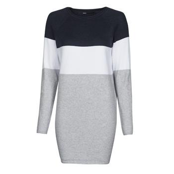 Υφασμάτινα Γυναίκα Κοντά Φορέματα Only ONLLILLO Marine / Άσπρο / Grey