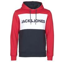 Υφασμάτινα Άνδρας Φούτερ Jack & Jones JJELOGO BLOCKING Red
