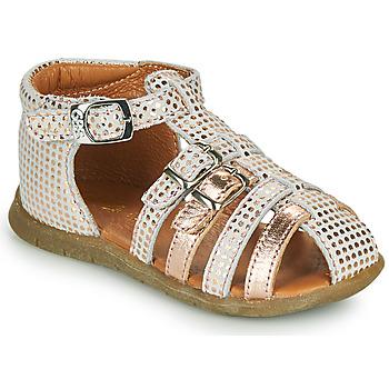 Παπούτσια Κορίτσι Σανδάλια / Πέδιλα GBB PERLE Άσπρο / Ροζ / Χρυσο
