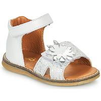 Παπούτσια Κορίτσι Σανδάλια / Πέδιλα GBB SATIA Άσπρο / Silver