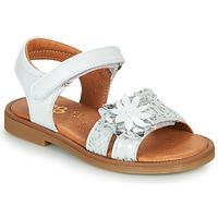 Παπούτσια Κορίτσι Σανδάλια / Πέδιλα GBB UPPLA Άσπρο / Silver