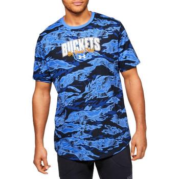 Υφασμάτινα Άνδρας T-shirt με κοντά μανίκια Under Armour Baseline Verbiage Tee Bleu