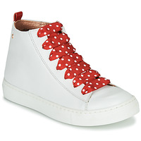 Παπούτσια Κορίτσι Ψηλά Sneakers Little Mary SASHA (VE014) Άσπρο / Red