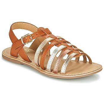 Παπούτσια Κορίτσι Σανδάλια / Πέδιλα Little Mary BARBADE Cognac / Ροζ
