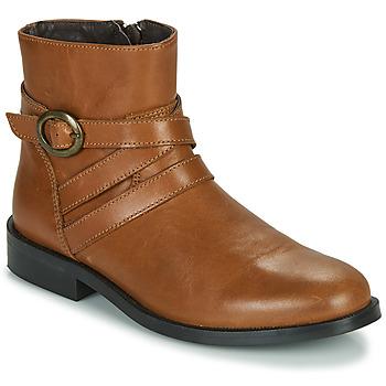 Παπούτσια Κορίτσι Μπότες Little Mary TIMOTHY Cognac