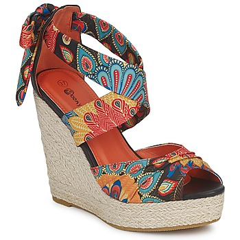 Παπούτσια Γυναίκα Σανδάλια / Πέδιλα Moony Mood FIRNIL Black / Multicolore