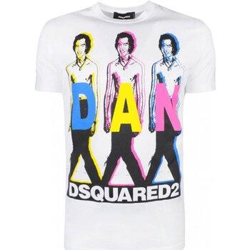 Υφασμάτινα Άνδρας T-shirt με κοντά μανίκια Dsquared S74GD0498 Άσπρο