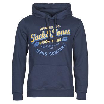 Υφασμάτινα Άνδρας Φούτερ Jack & Jones JJEJEANS Marine